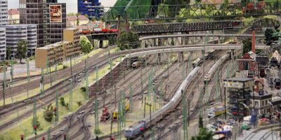 tren de de juguete eléctrico en Miniatur Wunderland